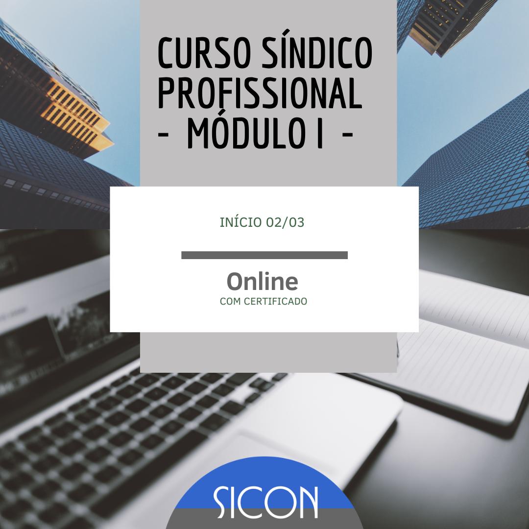 CURSO DE SÍNDICO PROFISSIONAL-Março-Módulo I-