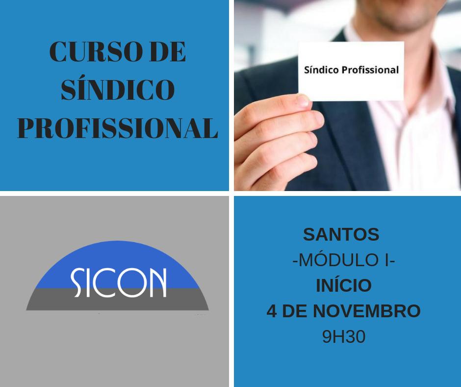 CURSO DE SÍNDICO PROFISSIONAL-NOVEMBRO-Módulo I - Santos