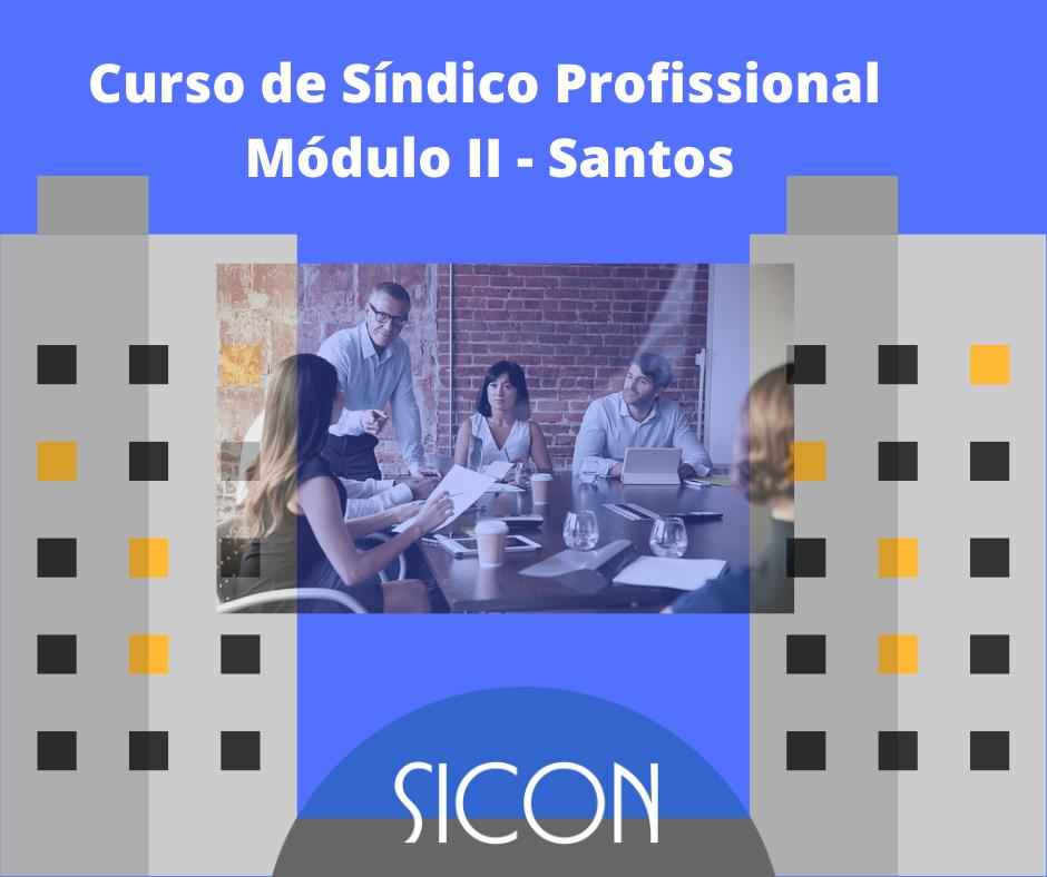 CURSO DE SÍNDICO PROFISSIONAL-Março-Módulo II - Santos