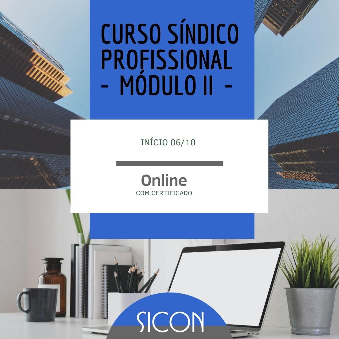 CURSO DE SÍNDICO PROFISSIONAL - Outubro- MÓDULO II