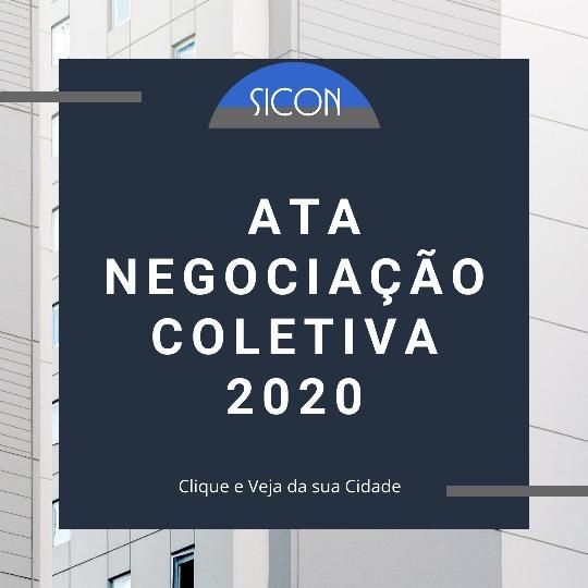 ATAS DA NEGOCIAÇÃO COLETIVA 2020 - Confira  sua cidade